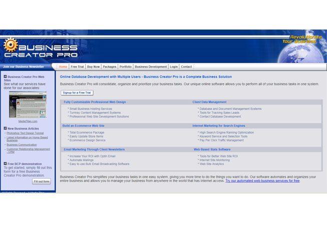 Business Creator Pro Website