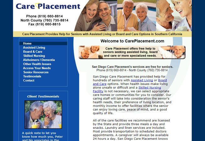 Care Placement - Website and Internet Marketing