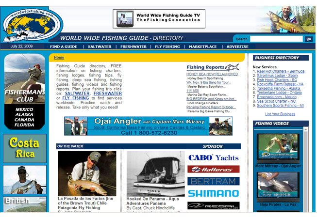 World Wide Fishing Guide - Programming
